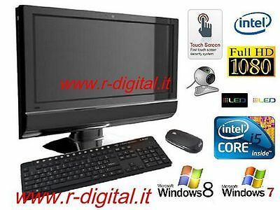 "Pc Monitor 22"" Touch Quad G620 Ram 8Gb Hd 2000Gb Windows 7 Pro Original Mouse"