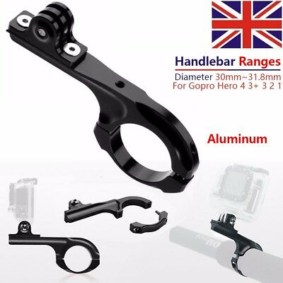 Aluminum Bike Motorcycle Handlebar Mount Clamp Cycling Action Camera Gopro Hero
