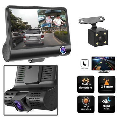 3 Lens HD 1080P Auto Kamera Vehicle DVR Überwachung Dashcam Recorder Nachtsicht
