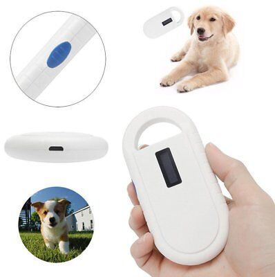 ISO FDX-B ID64 Pet Dog Microchip Reader Recognition Scanner Animal Tag Portable