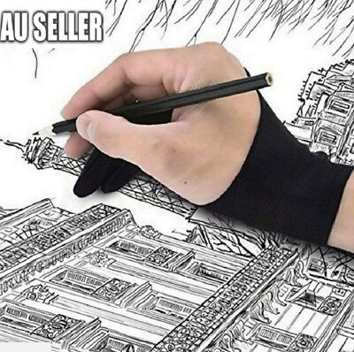 Professional S/M/L Size Graphic Tablet Artist Sketch Drawing Two Finger Glove AU
