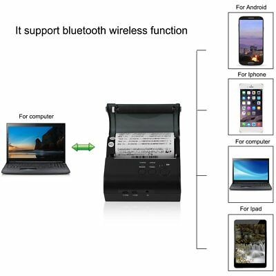 High Speed 80mm Bluetooth Wireless Receipt POS Thermal Printer MJ-8001 JYA9