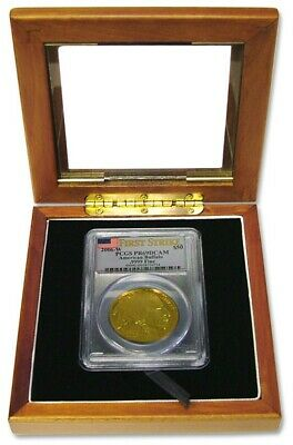 Wood Box For 1 Certified Graded Coin Slab New Display Storage Box Free US Post