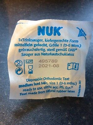 NUK Disposable Orthodontic Teat X 25 Individually Wrapped