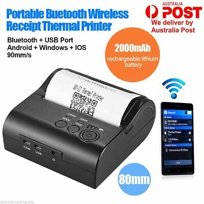 Wireless 90mm/s 80mm Bluetooth Thermal Receipt ESC POS Printer for Android IOS B