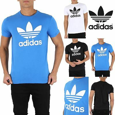 981604ea0 Mens Adidas Rich Cotton Originals Trefoil T Short Sleeve Crew Neck T-Shirt  Top