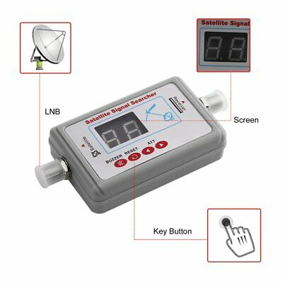 Mini Portable Digital Satellite Signal Finder LCD DVB-T TV Satellite Receiver UM