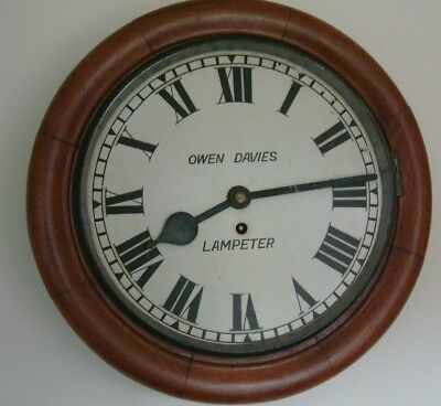 Vintage 1920's Tameside Of Oldham Mahogany Cased Fusee School/wall Clock A/f