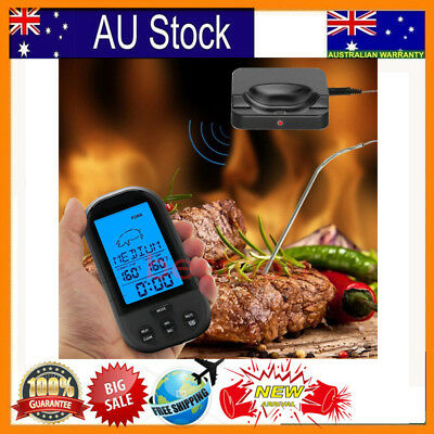 Digital Wireless Barbecue BBQ Meat Thermometer Remote Grill Cooking Food Probe N