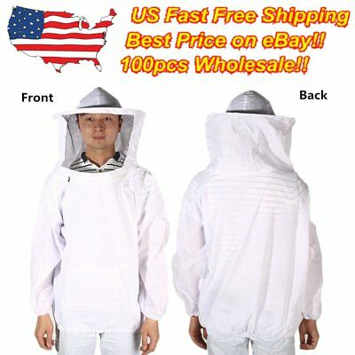 Beekeeping Jacket Veil Bee Keeping Suit Pull Over Smock Protective Equipment XXB