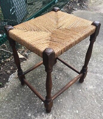 Antique Arts And Crafts Liberty Style Oak Stool