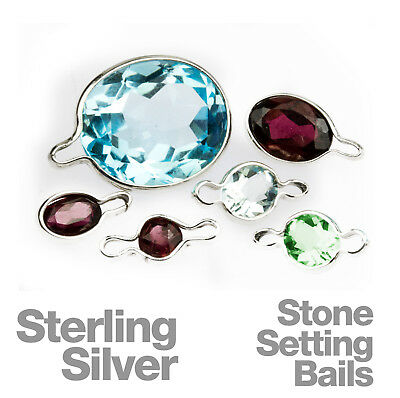 Sterling Silver Stone Setting Bail Wraptites for Jewellery Making