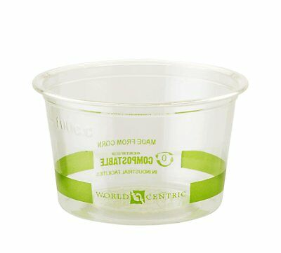 World Centric Compostable PLA Corn Souffle Cup, 4-Ounce - 110F, 1000 ct