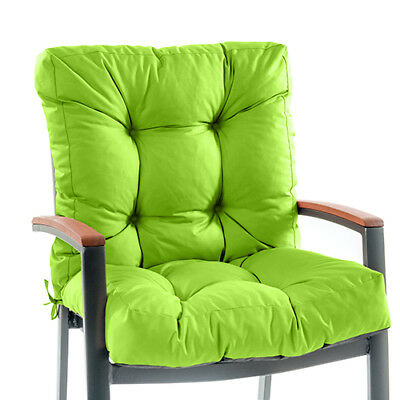 outdoor garden chair tufted seat high back cushion pad wateproof
