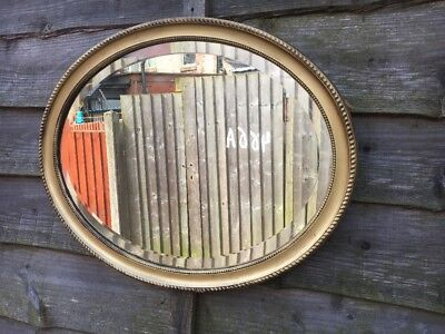 Large Antique French Victorian Rococo Baroque Gold Gilt Beveled Mirror