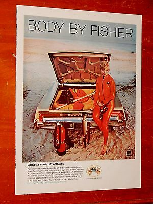 1968 Pontiac Bonneville & Cute Blonde For Fisher Ad - American 60S Classic