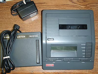 Lanier VW160 standard cassette transcriber with foot pedal, AC, headset warranty