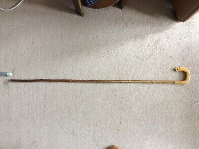 walking stick, hand made shepherd's crook, beautiful, hand carved thistle.