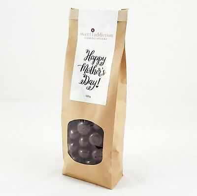 500g Dark Chocolate Covered Raspberries - Happy Mother's Day gift bag