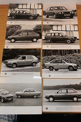 VW Polo & Golf Press Photograph Collection 1980's (11 OFF)