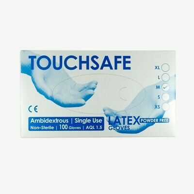 Disposable Latex Gloves Powdered Natural Rubber