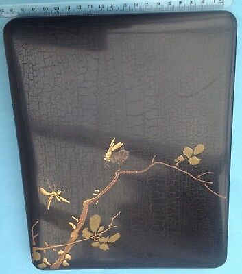 A1060 Antique Japanese Lacquer Suzuki Bako Document Box