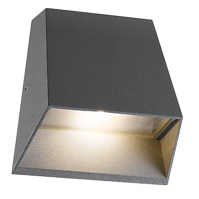 Aplique artal ip54 led 5w 150lm 3000k antracita