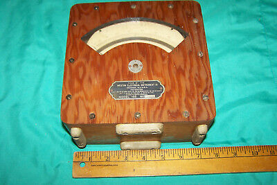 Weston A.C.Mil- Ammeter in Wooden Case - Model 155