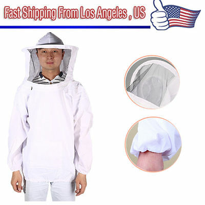 New Large Beekeeping Bee Keeping Suit, Jacket, Pull Over, Smock with Veil M/L ON
