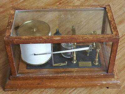 OAK CASED NEGRETTI & ZAMBRA 28/31 In Hg R/36289 BAROGRAPH