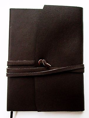 Ruled Leather Journal Genuine Brown Handmade Cover Writing Pocket Notebook