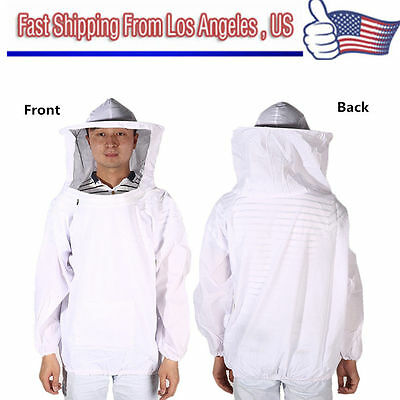 Beekeeping Jacket Veil Bee Keeping Suit Hat Pull Over Smock Protective Equipm AQ