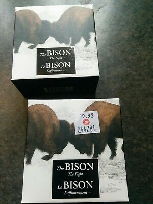 2014 20$ Fine silver coin The Bison- The Fight