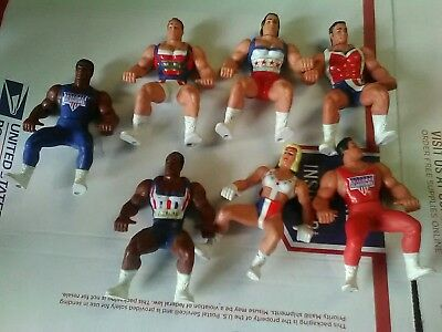 1991 American Gladiator Lot Of 7 vintage Action Figures rare no Reserve
