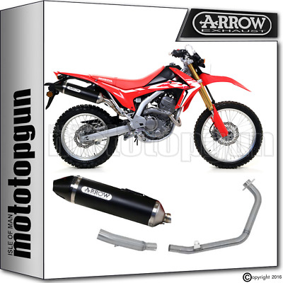 Arrow Full System Exhaust Thunder Black Carby Kat Honda Crf 250 L Rally 2017 17