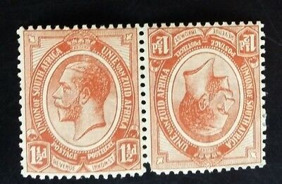 South Africa  Stamps    11/2 Brown -Tete-Beche Pair- Dated 1913..v F M --Lhm