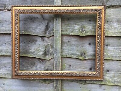 A Large Antique French Rococo Baroque Art Nouveau Style Gold Gilt Frame