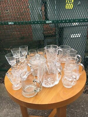 Large Collection Of Antique Vintage Cut Glass/CRYSTALWARE ~ Weddings 20 Pieces