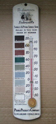 RARE SHAKERTOWN SHINGLES  PAINT THERMOMETER WOOD SIGN Cleveland Chehalis VTG