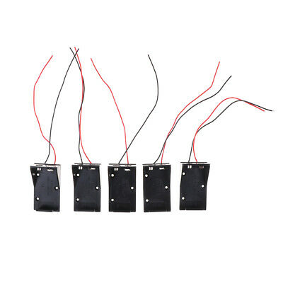 10PCS TWO WIRE Leads Spring Clip 9V Battery Holder Case Storage Box ...
