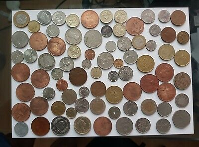 Job Lot of 75 World Coins Diverse collection Multiple Countries