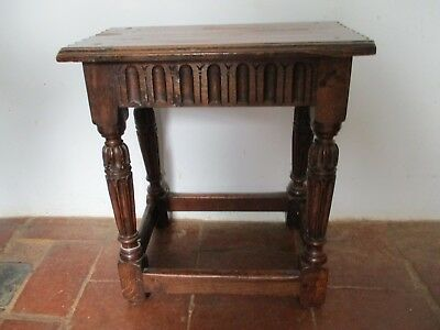 Unusual Early Antique Joint Stool
