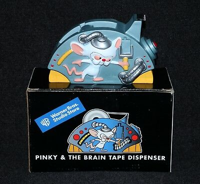 Pinky and The Brain 1998 Warner Bros Store Exclusive Brain Tape Dispenser MIB