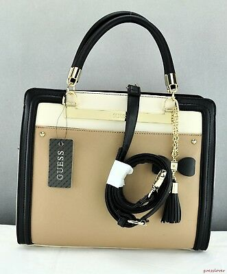 d3a5a098aef4 Brand New GuEsS Rare Collections Handbag Ladies Annalisa Bag Taupe Satchel  Tote
