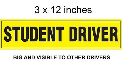 NEW STUDENT DRIVER Please Be Patient Bumper Sticker - 3x12in -GOOD VISIBLE SIZE