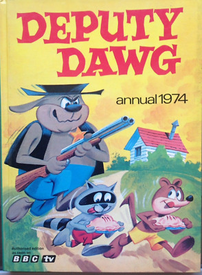 retro vintage Deputy Dawg Annual 1974 Very Rare bbctv book  1970's