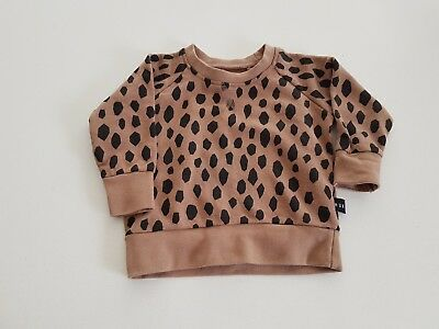 Huxbaby Jumper Leopard Unisex Size 1  or 12 Months