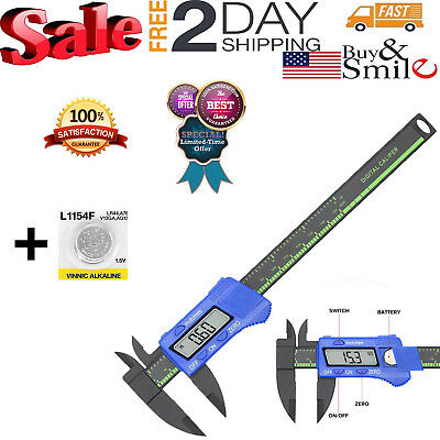 "Digital Caliper Electronic LCD Micrometer Stainless Steel Vernier Gauge 6"" 150mm"