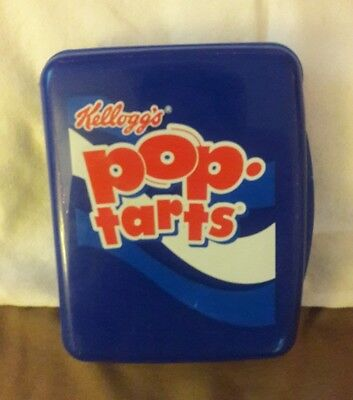 Vintage Kellog's Pop Tarts Container Holder, Berry Blue, Good Condition