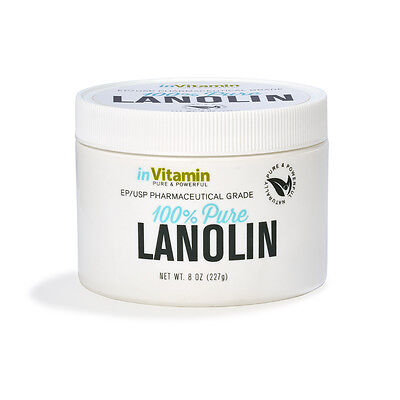 inVitamin Natural Moisturizer Pharmaceutical Grade Lanolin Skincare (8 oz)